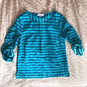 Calvin Klein blue striped tunic